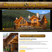 Meadowlark Log Homes Amish Log Cabins