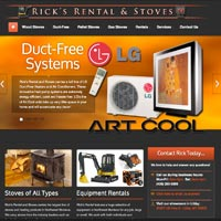 Rick's Rental and Stoves Website